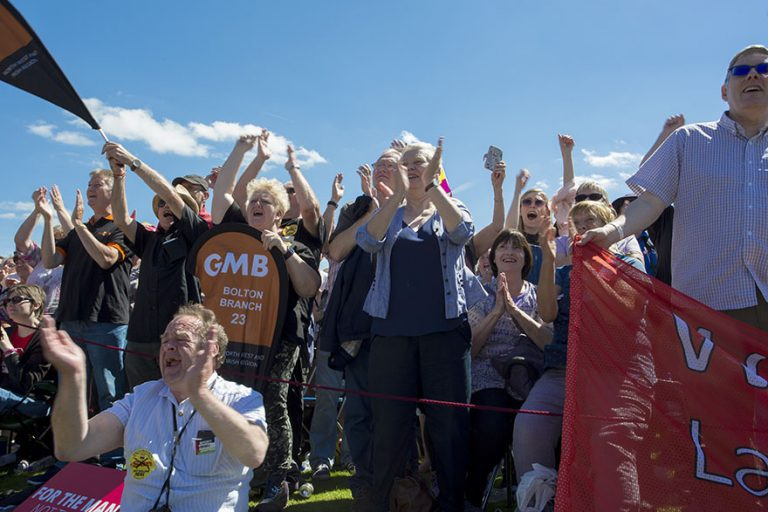 Durham Miners' Gala, Racecourse, Political Speeches